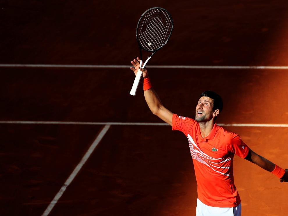 Djokovic tras el partido en Madrid.