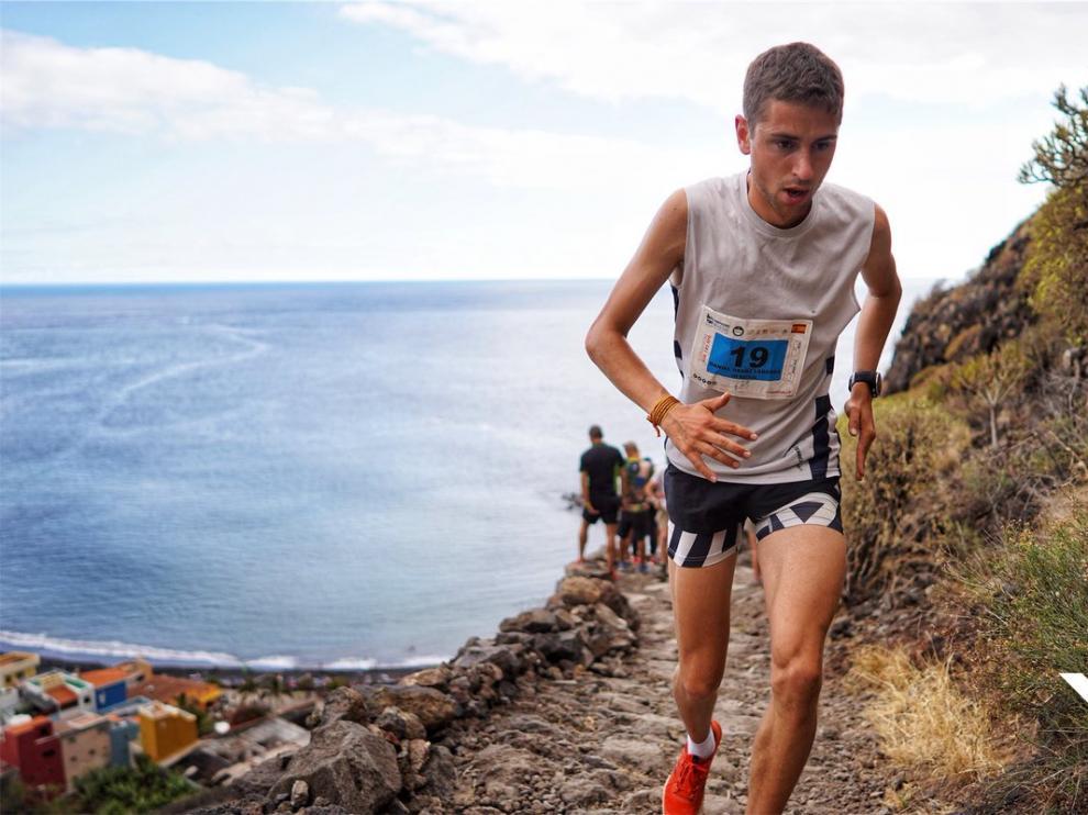 Daniel Osanz, primero en el Kilómetro Vertical de la Transvulcania 2019