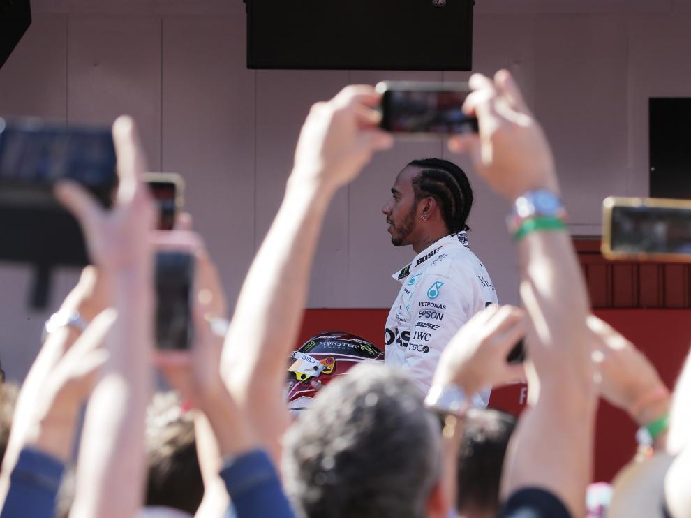 Lewis Hamilton, en Montmeló.