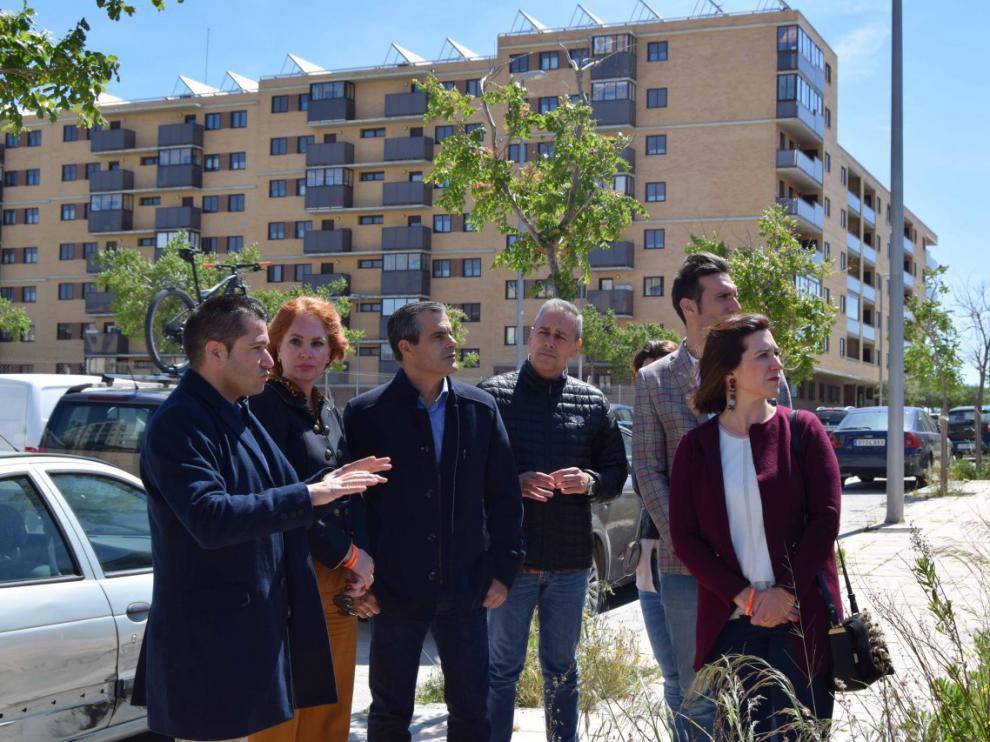 Sara Fernández en el barrio de Arcosur.