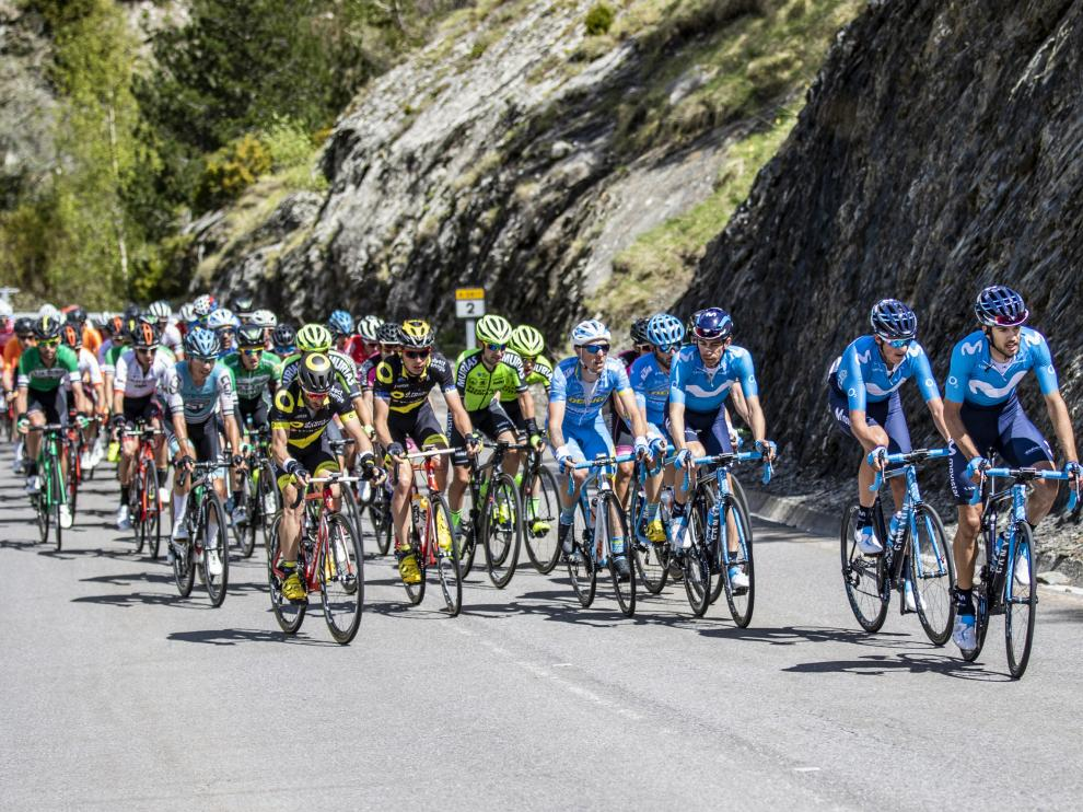 El pelotón, en la pasada edición de la Vuelta Aragón