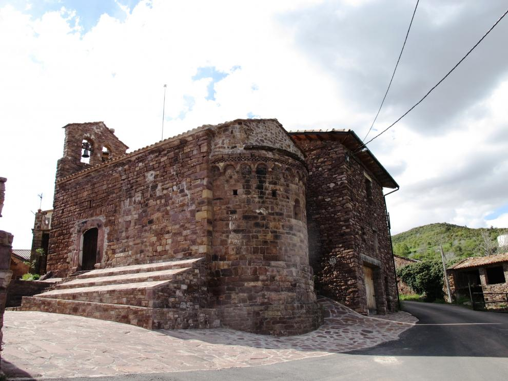 La iglesia de Villarrué, tal y como ha quedado tras la restauración.