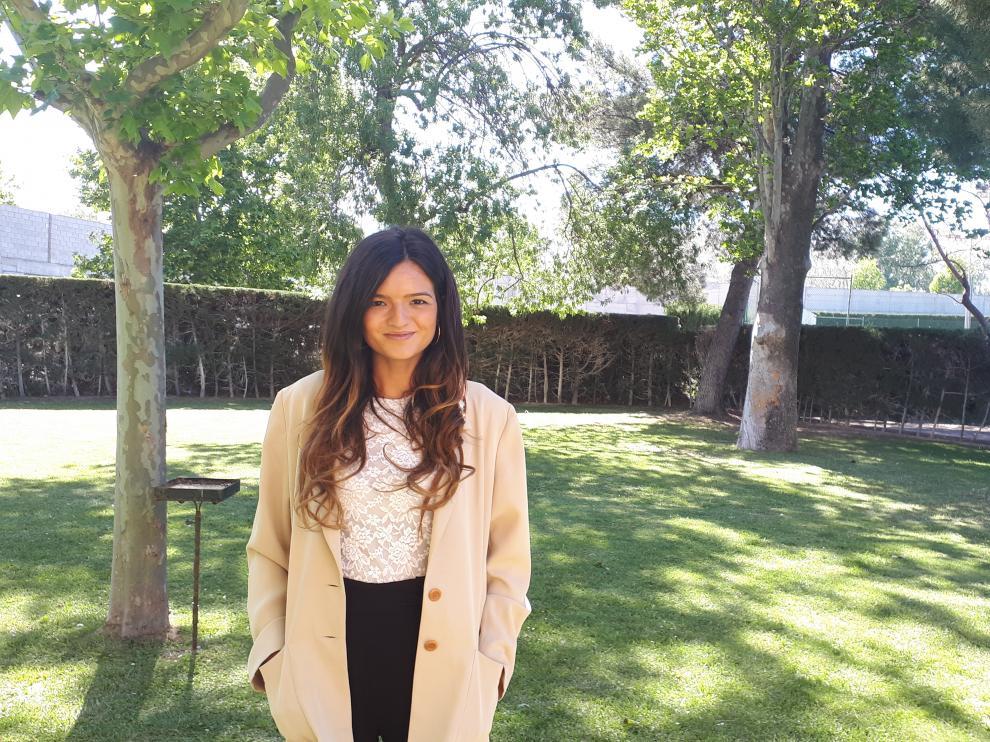 Sonia Rivas, nº 1 del MIR en Aragón, en Zaragoza.