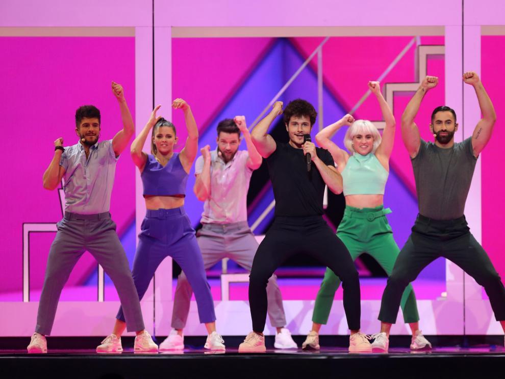 Ensayos de vestimenta para el festival de Eurovisión.