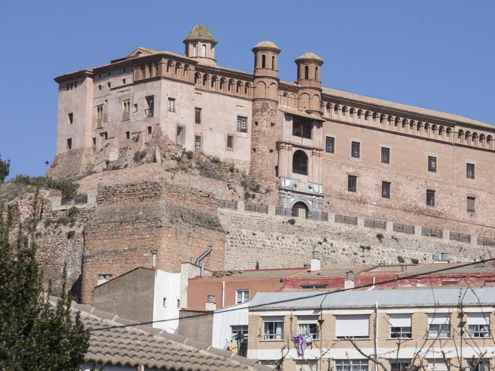 Vista del Castillo del Papa Luna de Illueca.