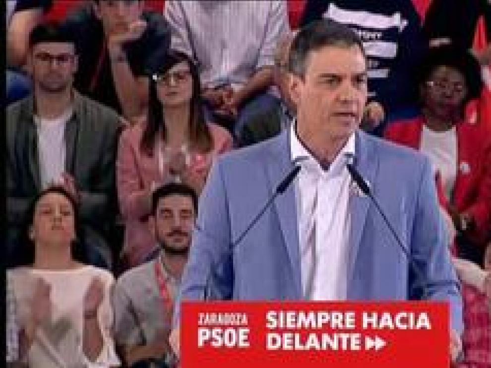 """El líder socialista aseguró en Zaragoza que los españoles """"se lo dirán dos veces"""" a PP, Ciudadanos y Vox"""