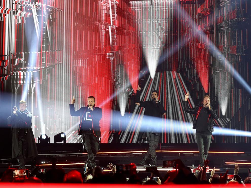 GRAF547. MADRID, 13/05/2019.- El quinteto estadounidense Backstreet Boys durante el concierto que ofrecen esta noche en el Palacio de los Deportes de la Comunidad de Madrid, dentro de su gira DNA World Tour .EFE/Kiko Huesca Concierto de los BACKSTREET BOYS en Madrid