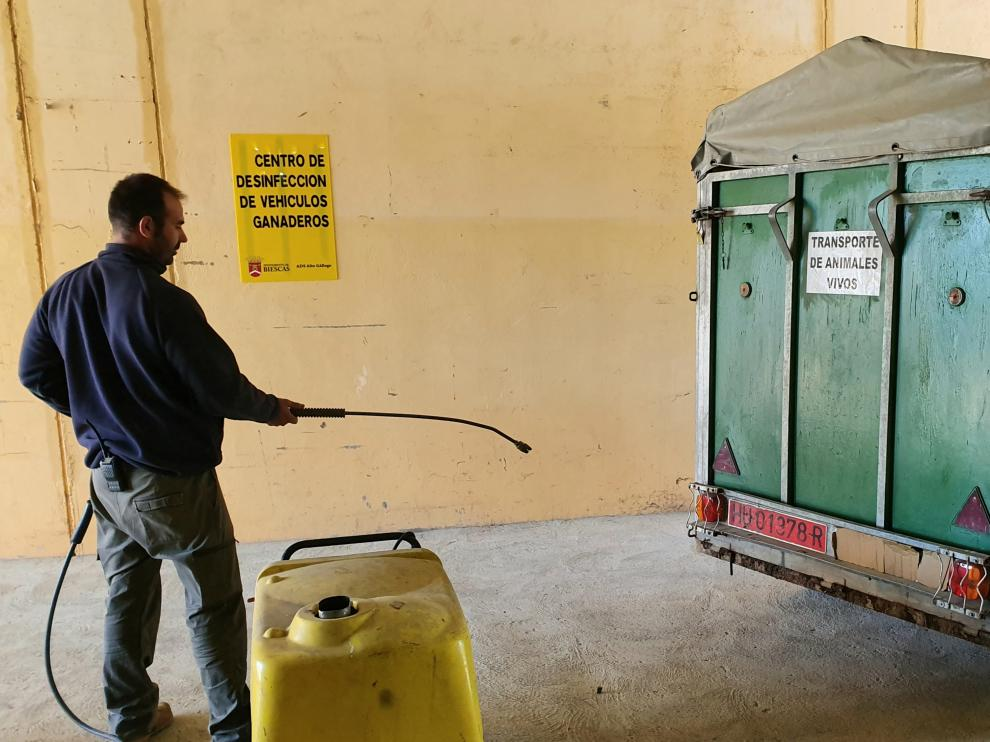 El nuevo centro de limpieza de vehículos ganaderos.