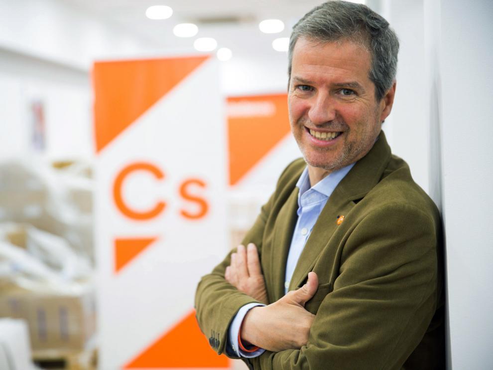 Daniel Pérez Calvo, candidato de Ciudadanos a la Presidencia del Gobierno de Aragón.