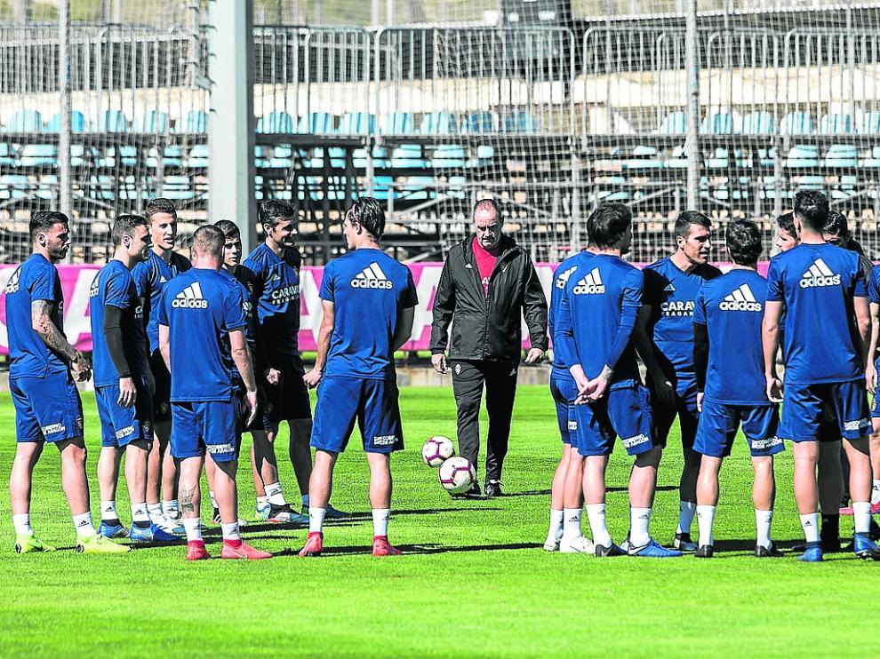 DEPORTES. Ciudad Deportiva. Entrenamiento Real Zaragoza / 14-05-2019 / FOTO: GUILLERMO MESTRE [[[FOTOGRAFOS]]]