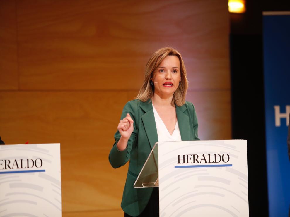 Pilar Alegría, candidata del PSOE al Ayuntamiento de Zaragoza.