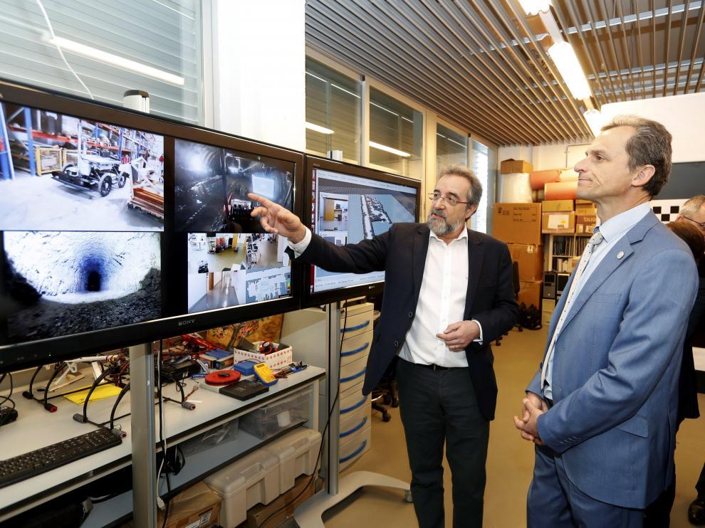 El ministro de Ciencia ha estado este miércoles en Zaragoza para visitar las instalaciones I3A.