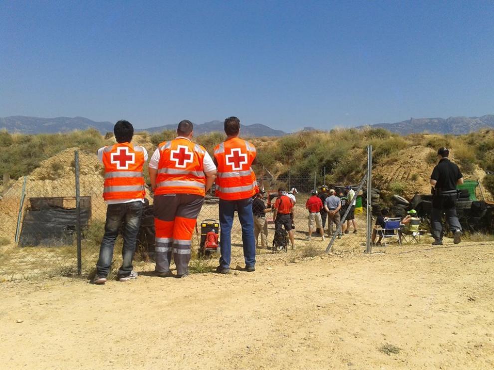 Voluntarios en un servicio preventivo.