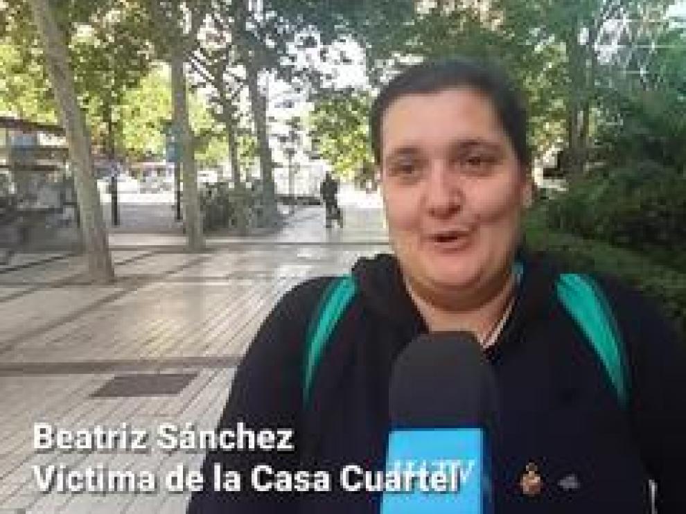 Beatriz Sanchez, víctima de la Casa Cuartel, habla tras la detención del etarra Josu Ternera.