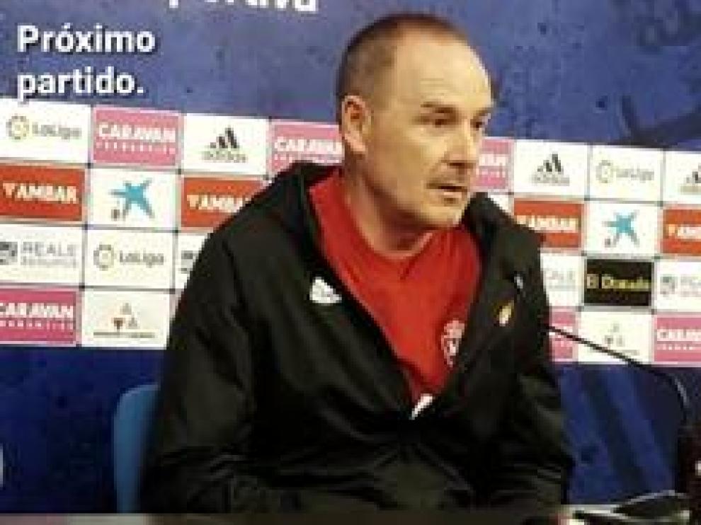 El entrenador del Real Zaragoza, Víctor Fernández, ha comentado cómo afronta el equipo el próximo partido, este viernes en La Romareda contra el Sporting de Gijón.