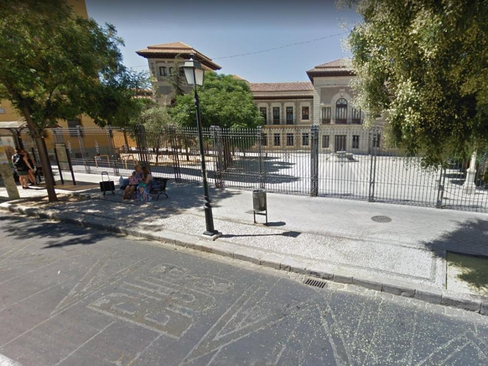 La granadina plaza de la Libertad, donde se ha producido la agresión.
