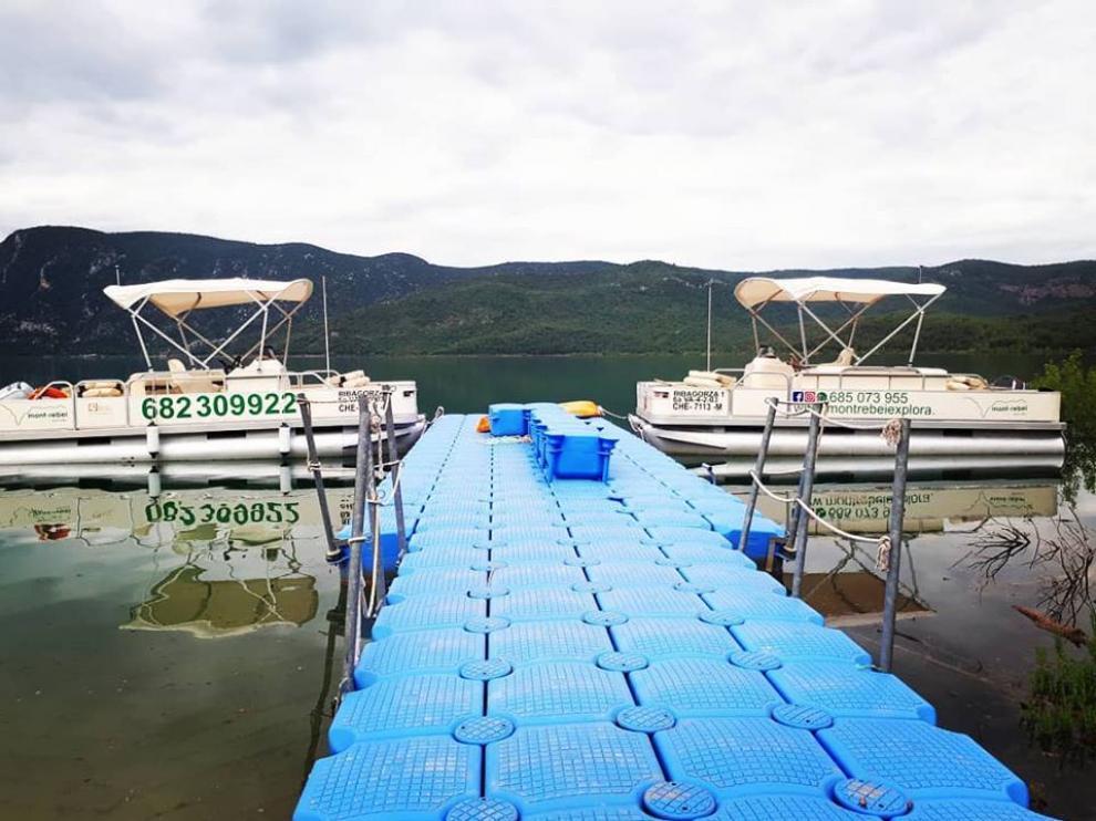 Imagen de uno de los embarcaderos de Canelles.