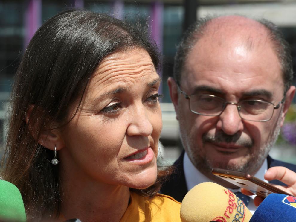 Hasta Zaragoza ha viajado este jueves la ministra de Industria, Comercio y Turismo en funciones, Reyes Maroto.