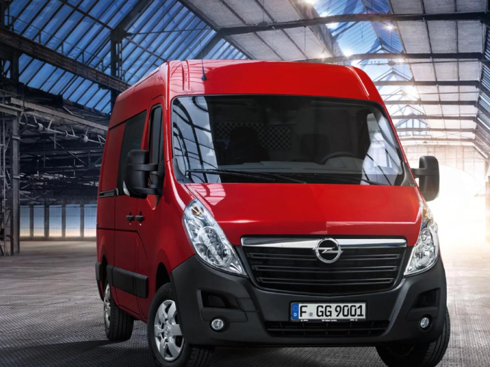 El Movano de Opel en el modelo furgón.