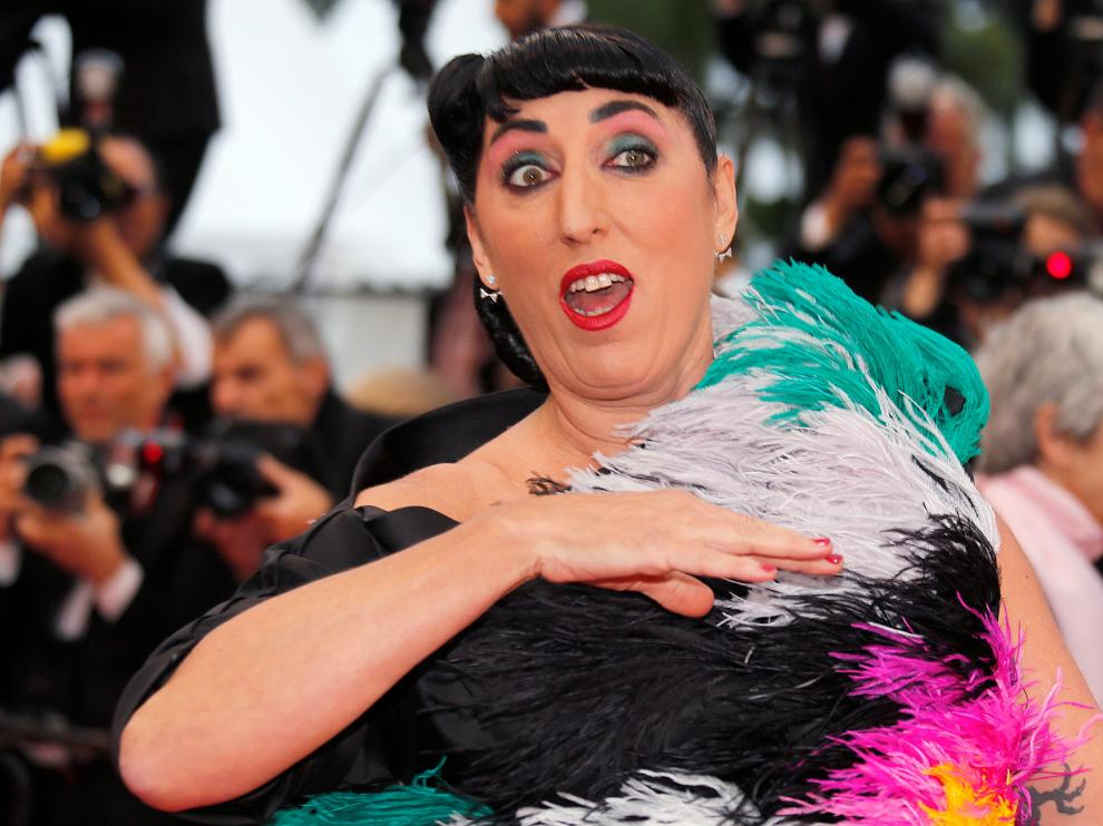 """72nd Cannes Film Festival - Screening of the film """"Pain and Glory"""" (Dolor y gloria) in competition - Red Carpet Arrivals - Cannes, France, May 17, 2019. Spanish actor Rossy de Palma poses. REUTERS/Stephane Mahe [[[REUTERS VOCENTO]]] FILMFESTIVAL-CANNES/PAIN AND GLORY"""
