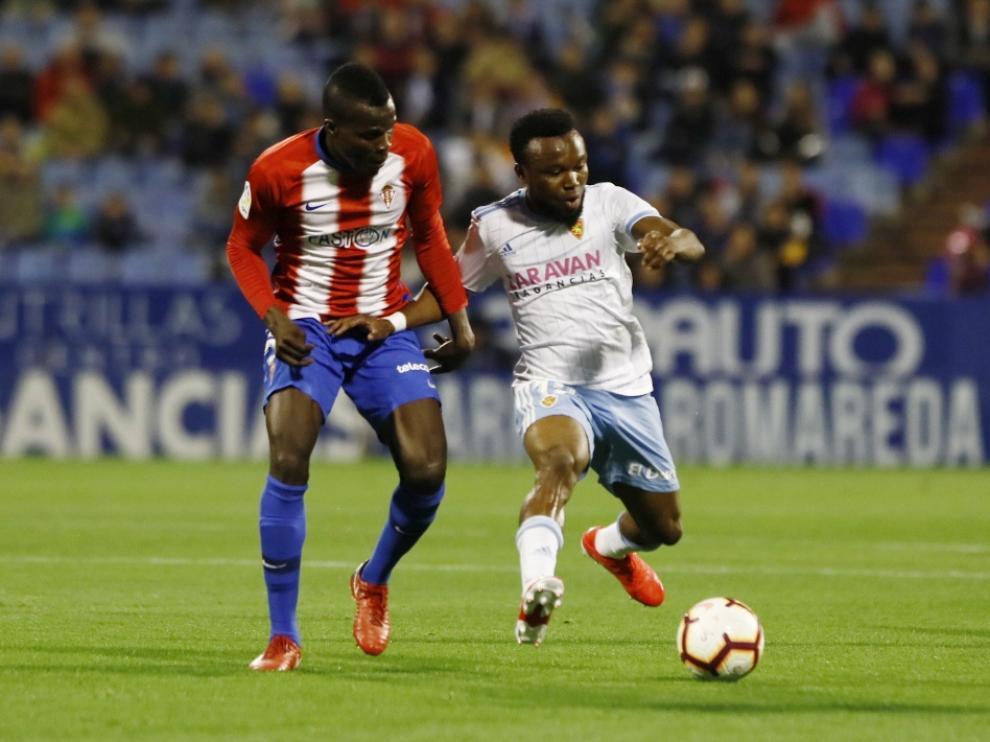 Partido de la 39ª jornada de liga entre el Zaragoza y el Sporting.