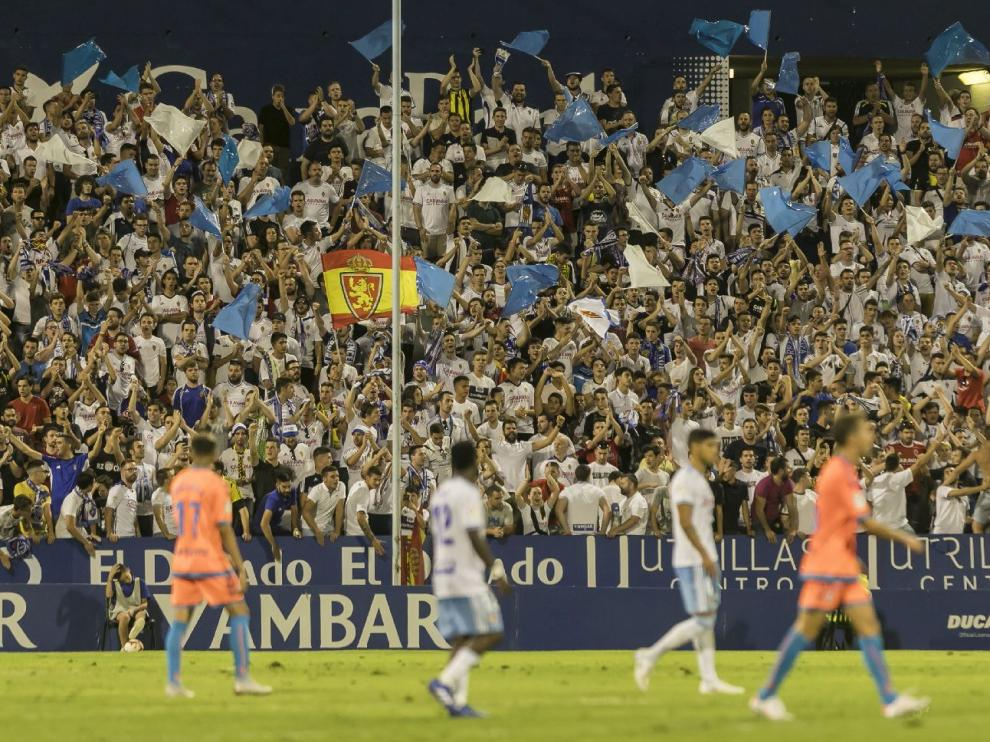 La Romareda, 19 de agosto pasado, primer partido de la actual liga ante el Rayo Majadahonda (2-1). Han pasado ya 9 meses.