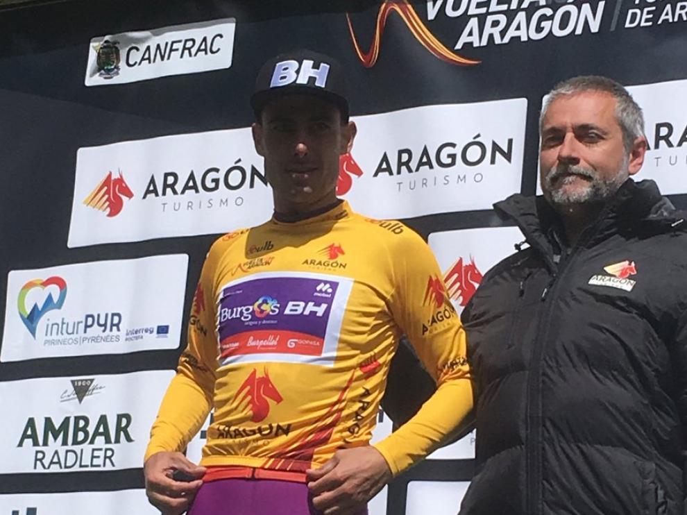 Jesús Ezquerra es el nuevo líder de la Vuelta Aragón.