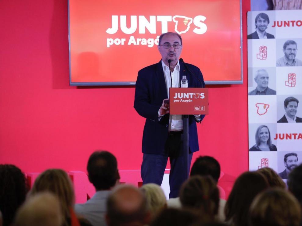 Javier Lambán, este sábado durante su participación en el Día de la Rosa en Andorra.