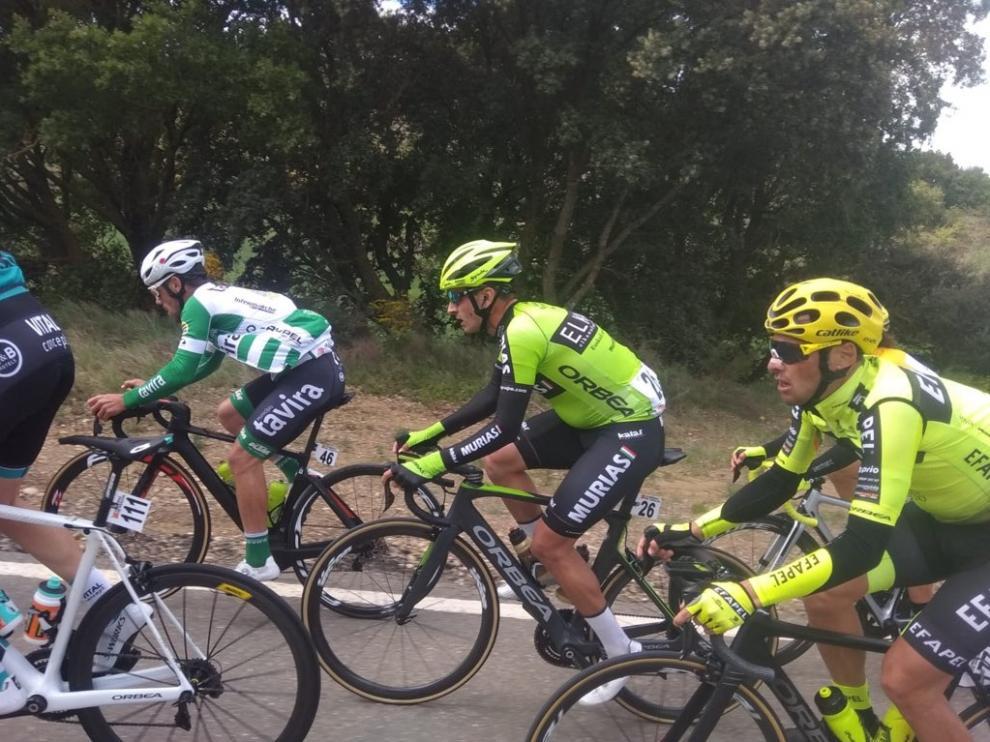 Primeros kilómetros de la segunda etapa de la Vuelta Aragón 2019. @Vuelta_Aragon