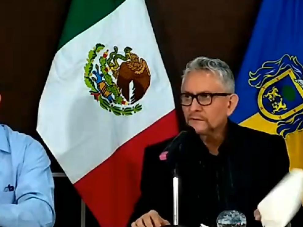 Rueda de prensa del fiscal general de Jalisco, Gerardo Octavio Solís.