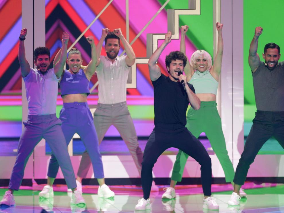 Miki, en su actuación en Eurovisión 2019