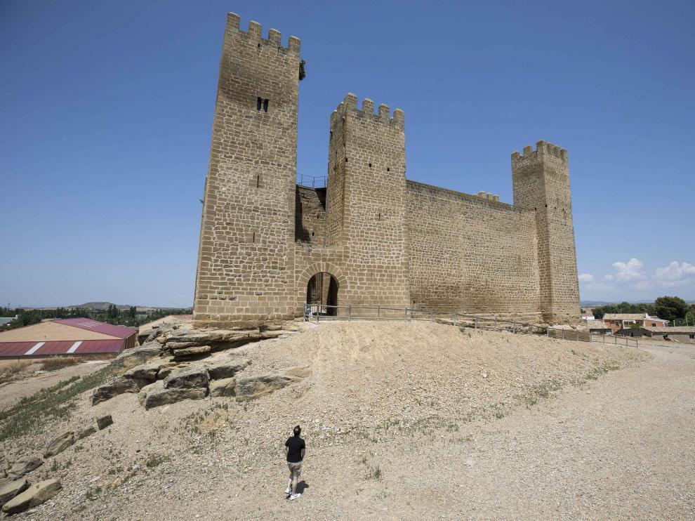 El castillo de Sádaba data del siglo XIII.
