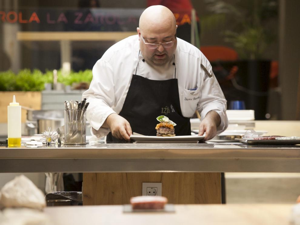 Darío Bueno, chef del hotel Abba, de Huesca, un experto en carnes de cordero.