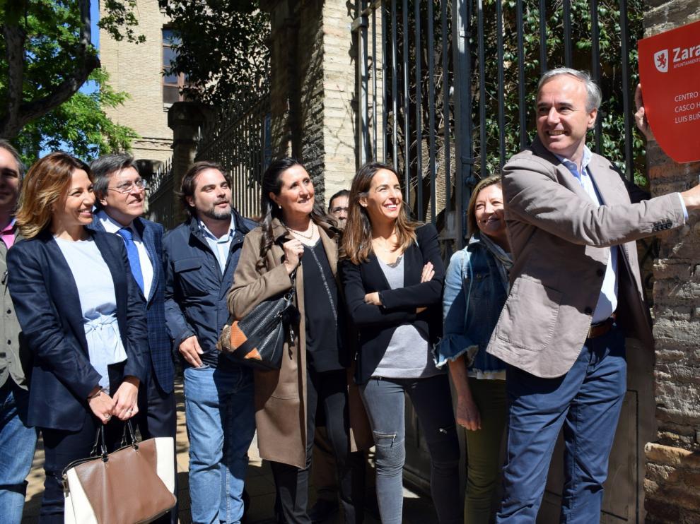 El candidato del PP a la alcaldía de Zaragoza, Jorge Azcón.