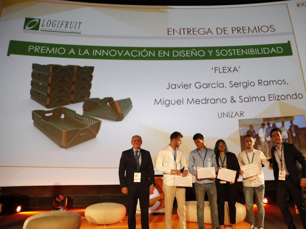 Los galardonados de la Universidad de Zaragoza han recogido el premio en Madrid.