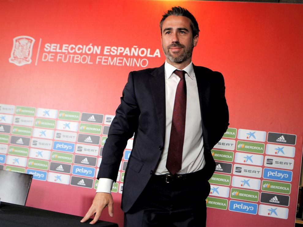 El seleccionador Jorge Vilda.