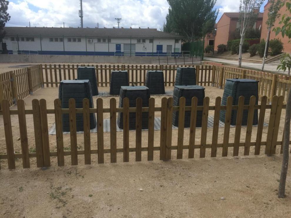 Zona de compostaje comunitario habilitada en La Cartuja.