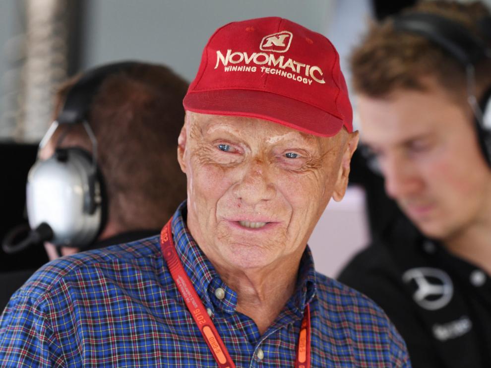 El expiloto austríaco Niki Lauda