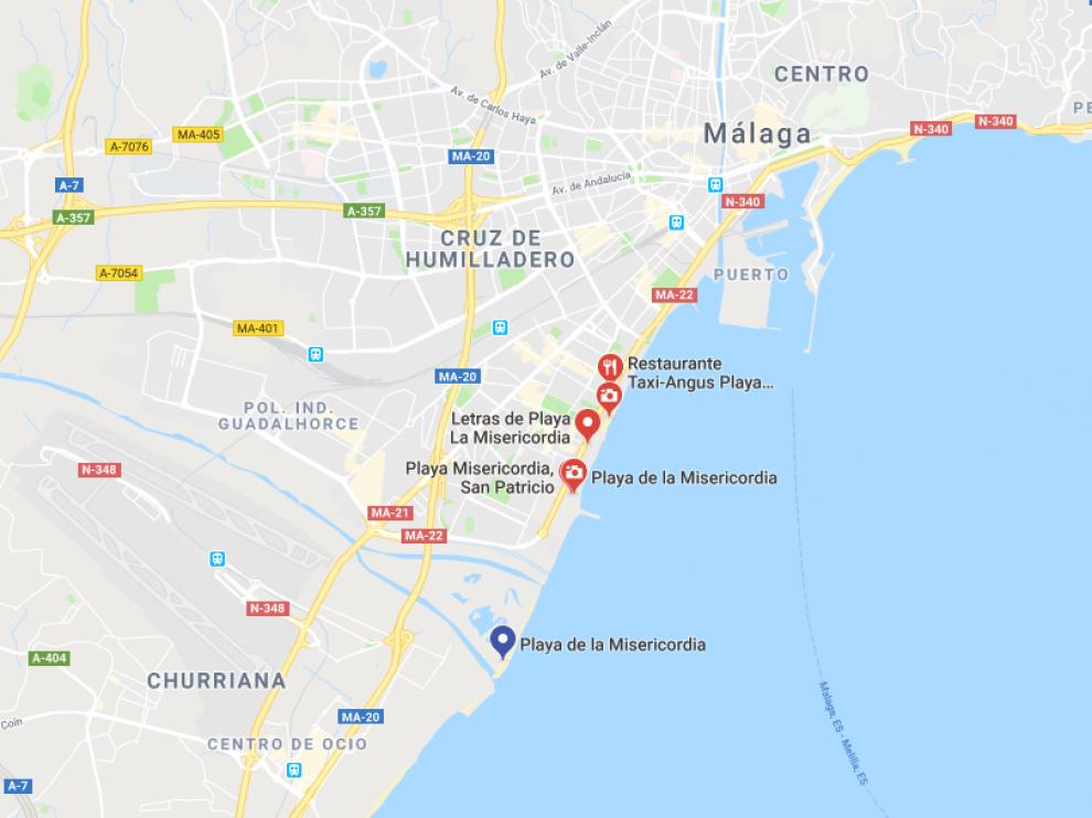 Ocurrió en la playa de la Misericordia de Málaga sobre las 16.00 del pasado 14 de mayo.