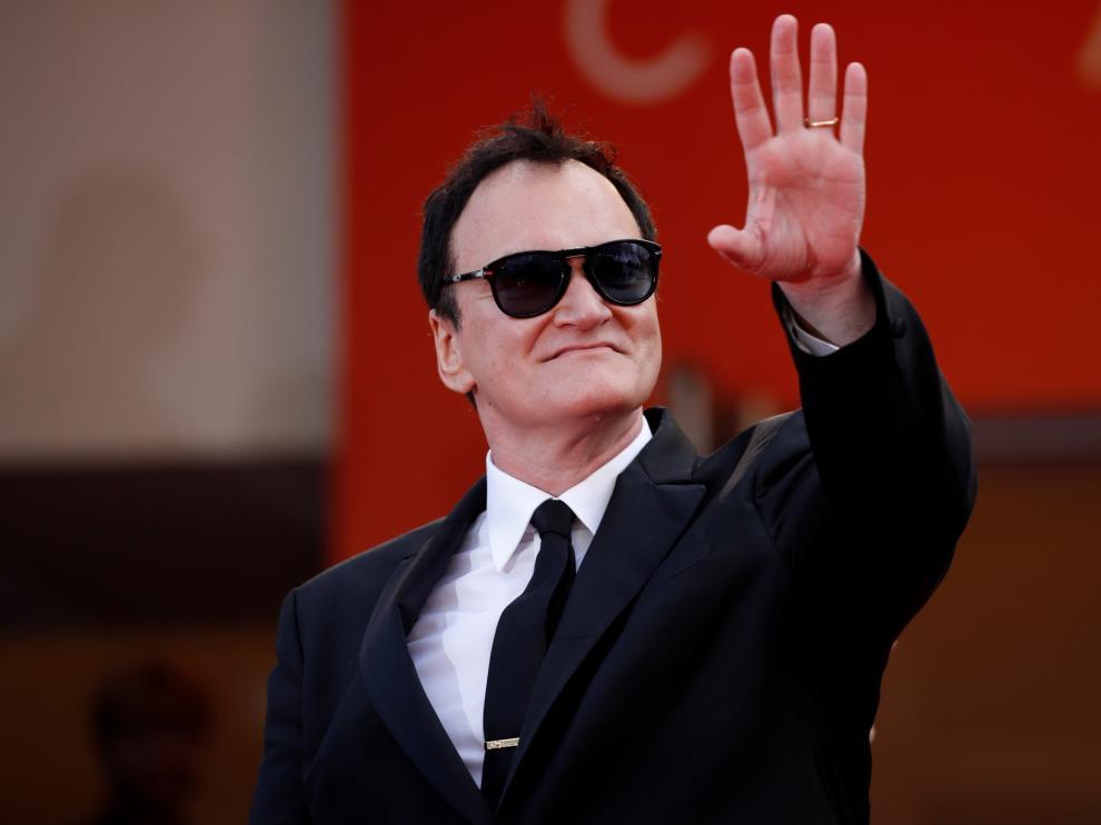 Quentin Tarantino en la alfombra roja de Cannes.