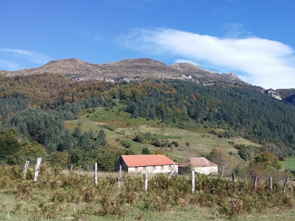 Un paisaje del navarro valle del Roncal.