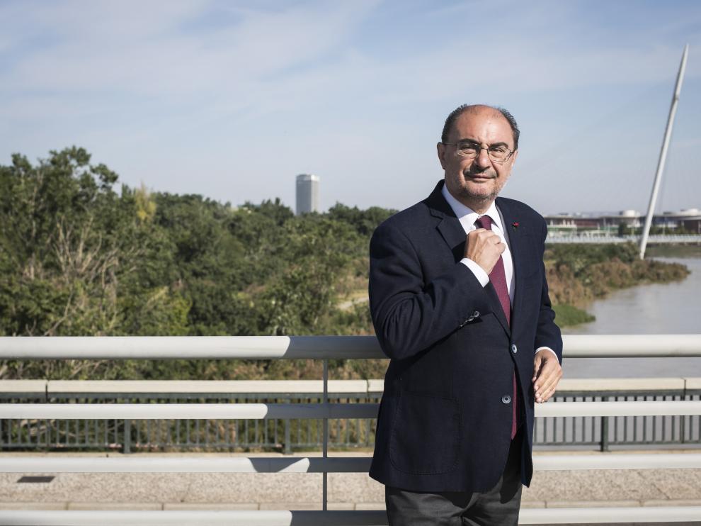 JAVIER LAMBAN ( PSOE ) / PUENTE DE LA ALMOZARA / ELECCIONES AUTONOMICAS 2019 / 21/05/2019 / FOTO : OLIVER DUCH [[[FOTOGRAFOS]]]