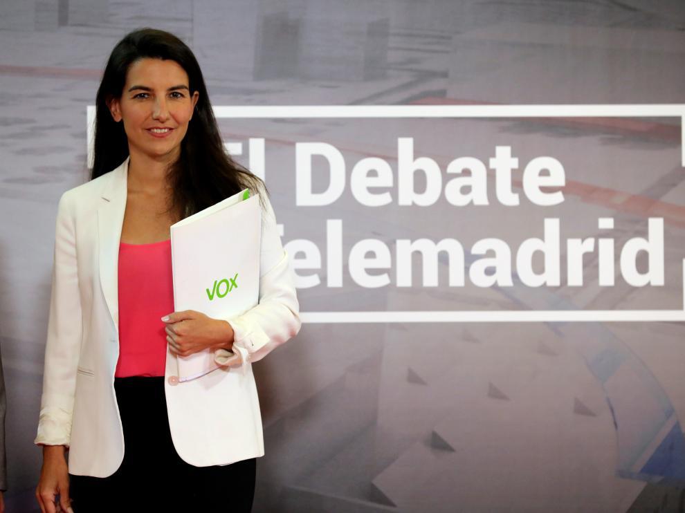 Rocío Monasterio, candidata de Vox a la presidencia de la Comunidad de Madrid