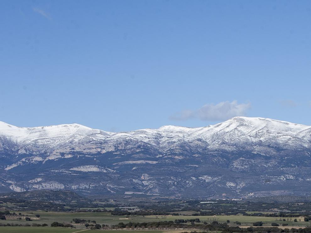 Vista panorámica desde la localidad oscense de Angüés.