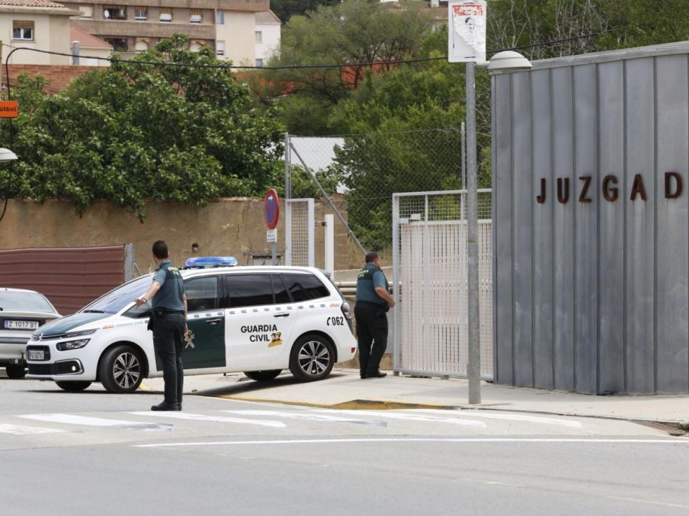 El presunto autor del ataque con ácido a Kamal M. H. ha sido trasladado a la cárcel de Zuera desde los juzgados de Caspe hacia las 13.30 de este jueves.