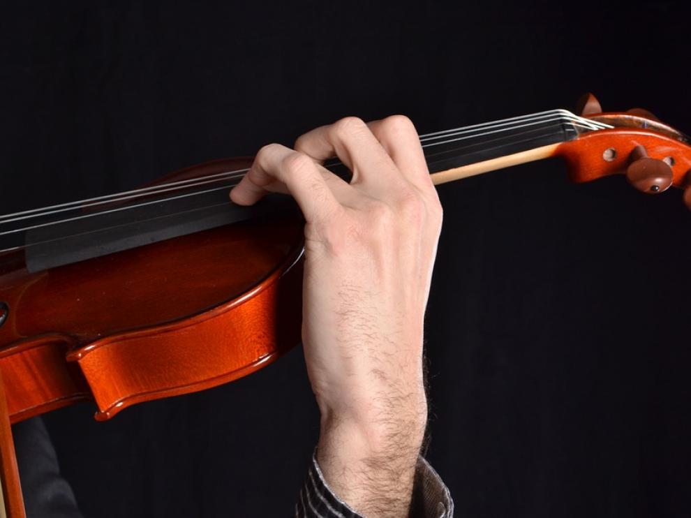 Foto de archivo de un violín
