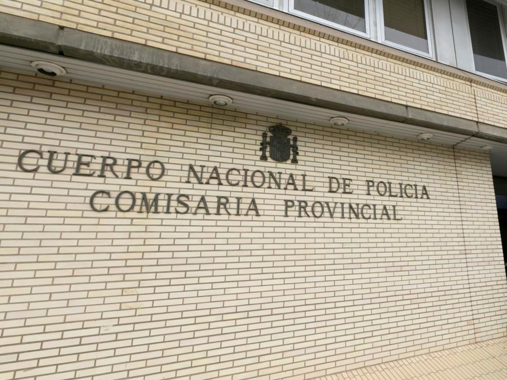 Fachada de la Comisaría Provincia de Huesca, donde se presentó la denuncia.