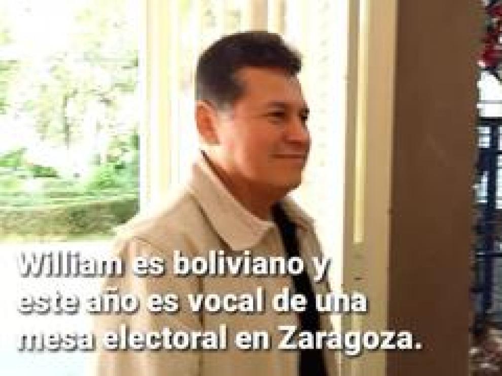William Cáceres es boliviano y uno de los 21.000 extranjeros que están llamados a votar en las eleccioens de este domingo.