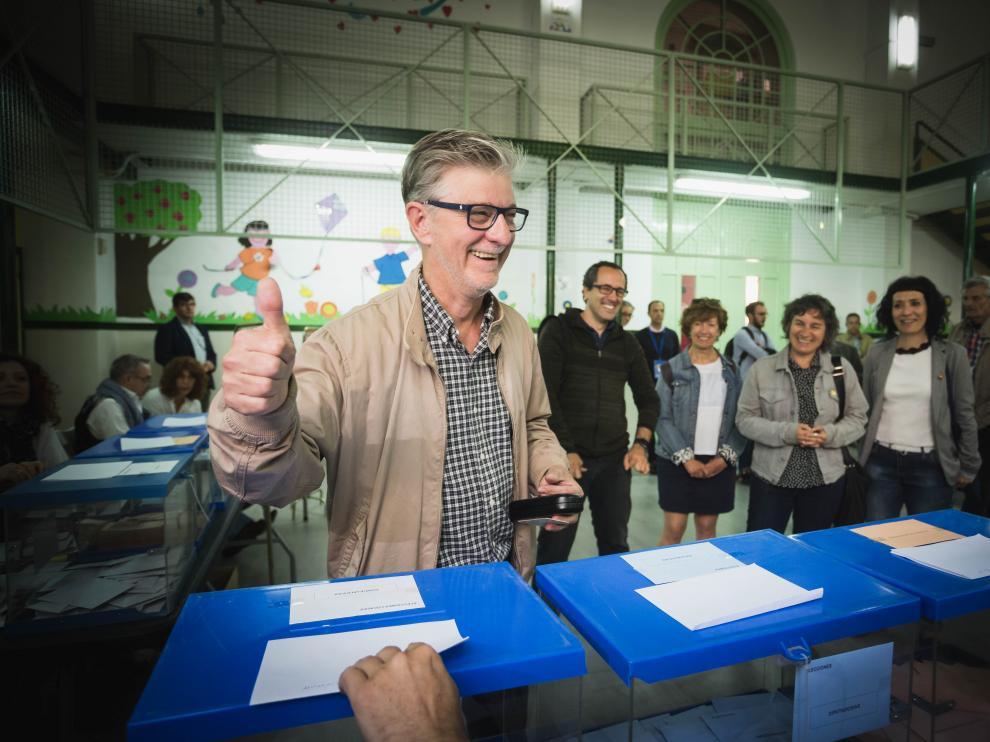 El candidato a la Alcaldía de Zaragoza, Pedro Santisteve, ha mostrado su deseo de que haya una elevada participación.