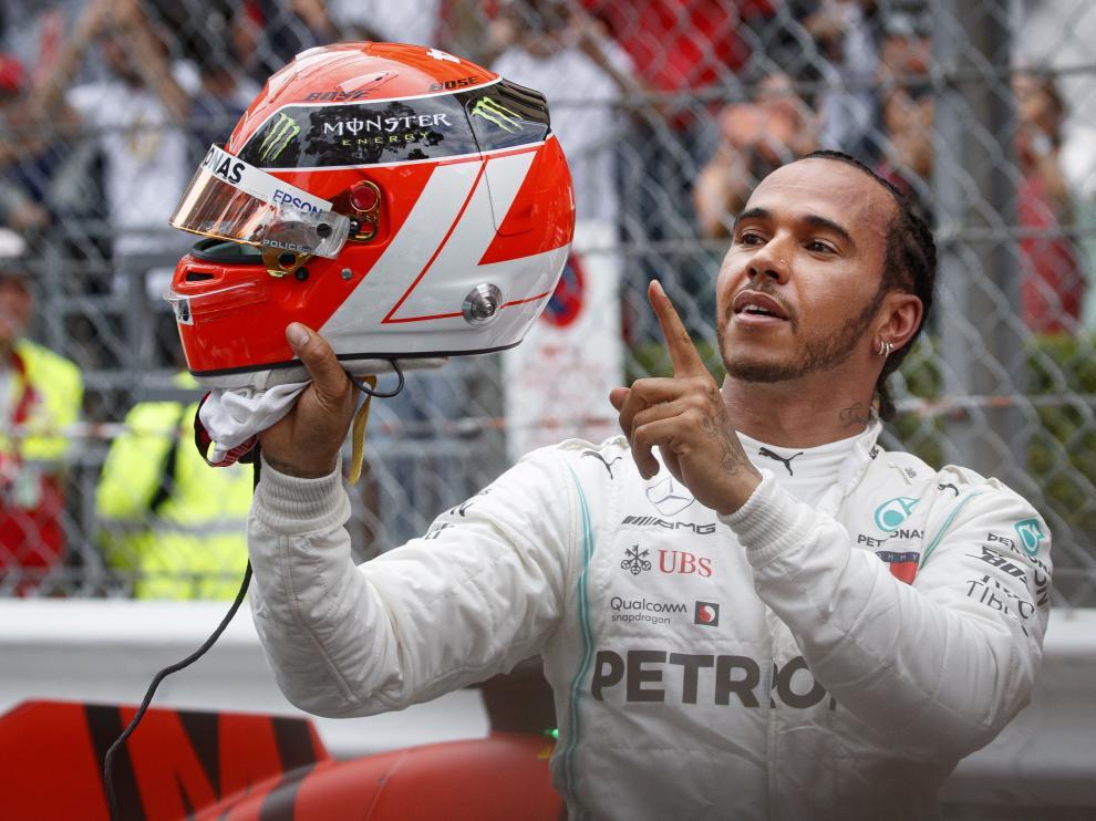 Hamilton tras ganar el GP de Mónaco.